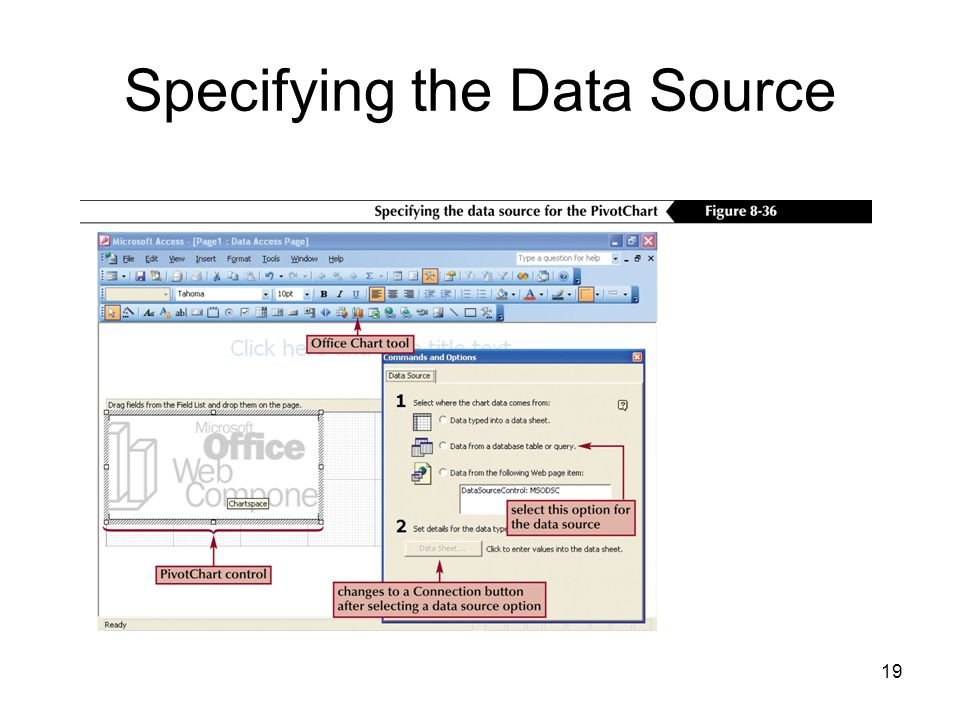 19 Specifying the Data Source
