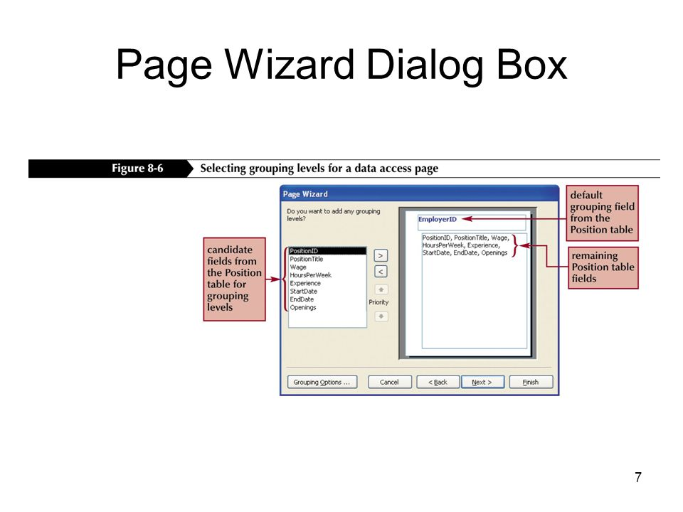 7 Page Wizard Dialog Box