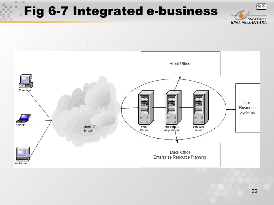 22 Fig 6-7 Integrated e-business