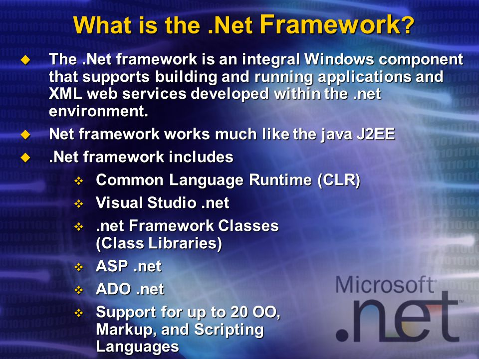 What is the.Net Framework .