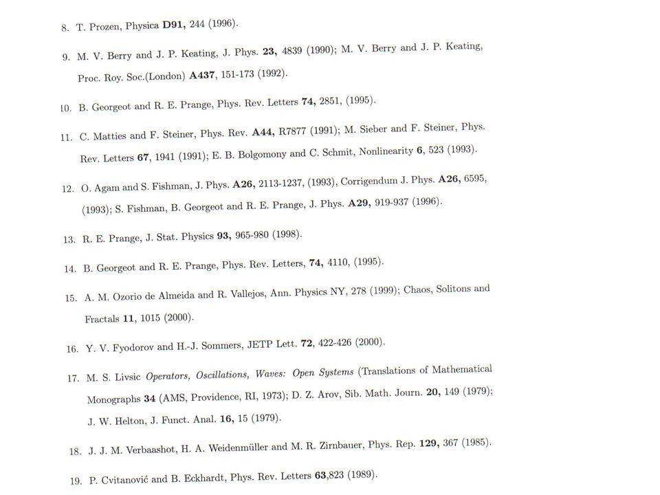 RESURGENCE In Quasiclassical Scattering Richard E Prange