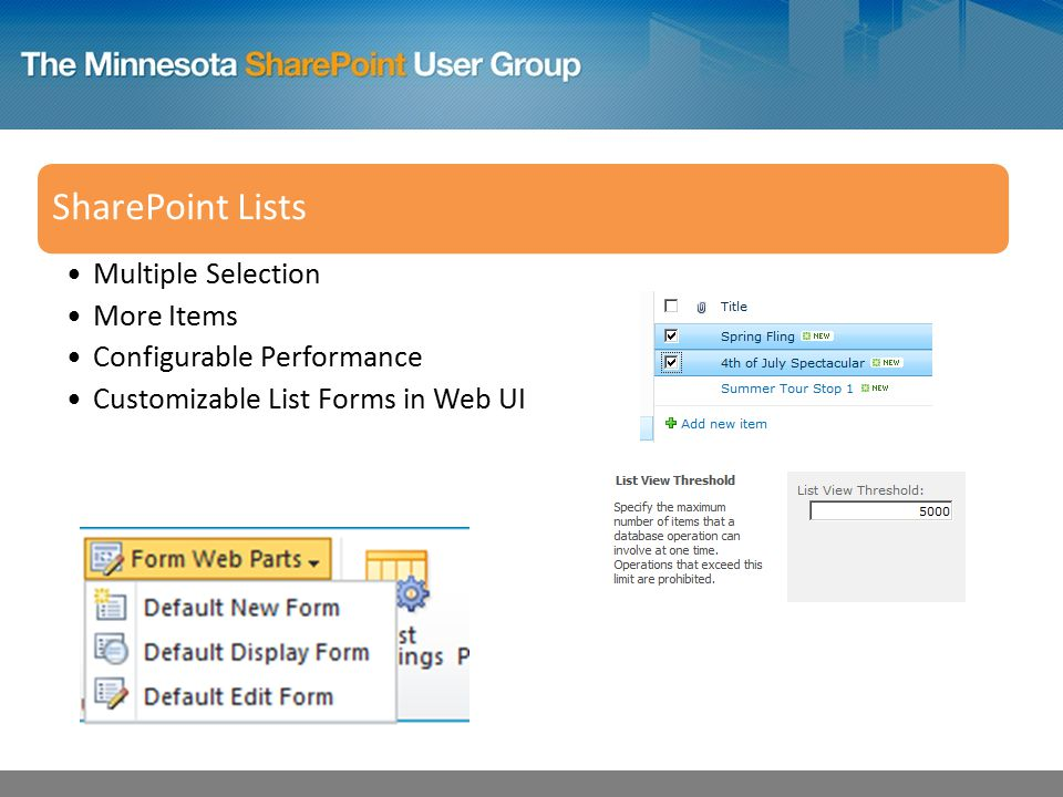 SharePoint Lists Multiple Selection More Items Configurable Performance Customizable List Forms in Web UI