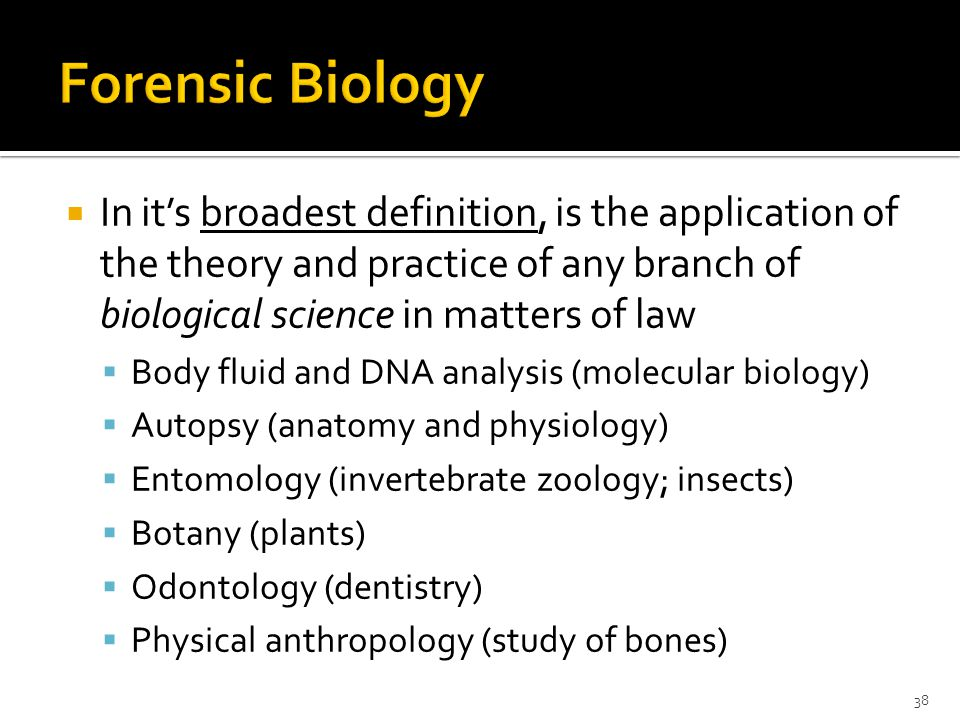 Chapter 1 Forensic Biology A Subdiscipline Of Forensic Science Ppt Download