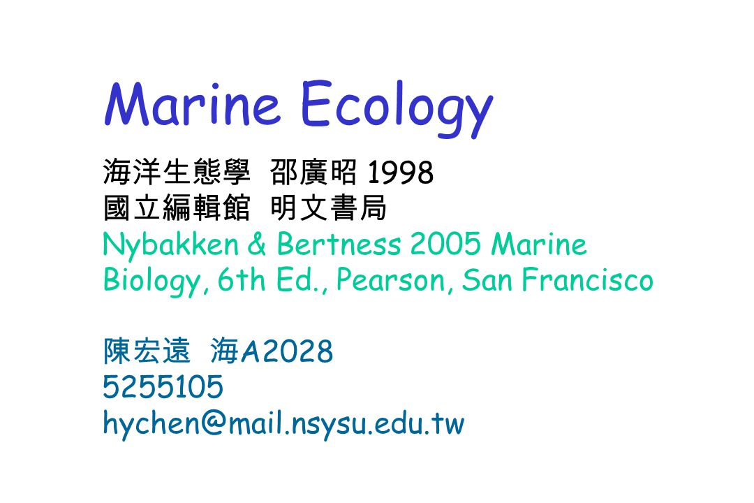 Nybakken Marine Biology Download
