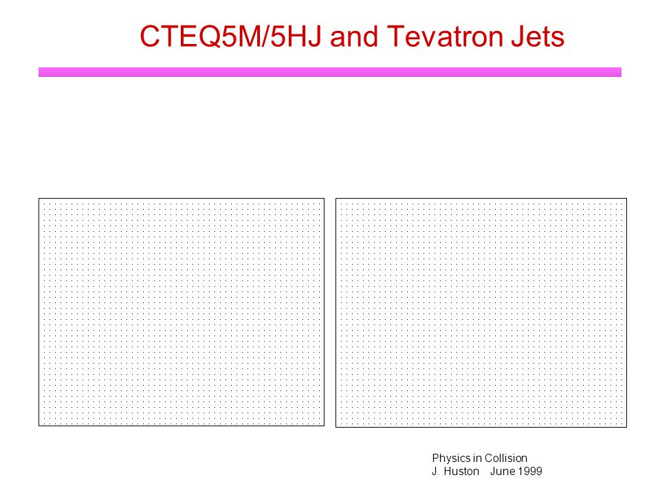 Physics in Collision J. Huston June 1999 CTEQ5M/5HJ and Tevatron Jets