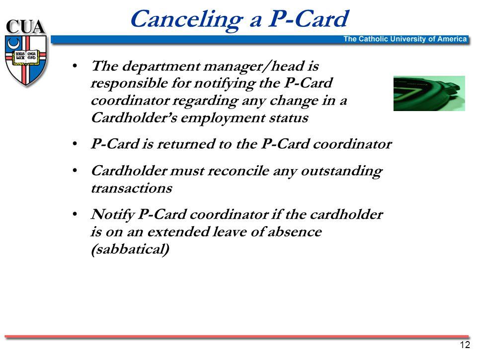 Procurement Card (P-Card) Training Program 1 Purpose of Procurement ...