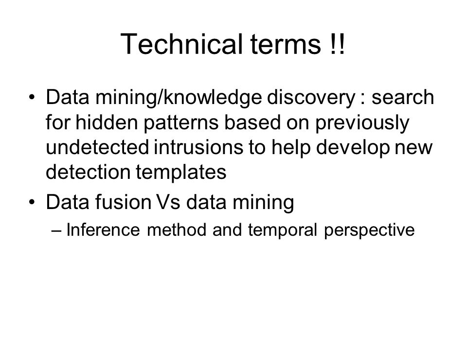 Technical terms !.