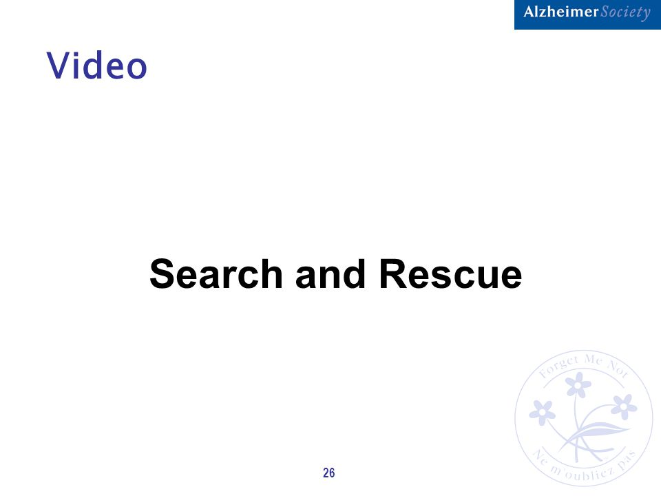 26 Video Search and Rescue