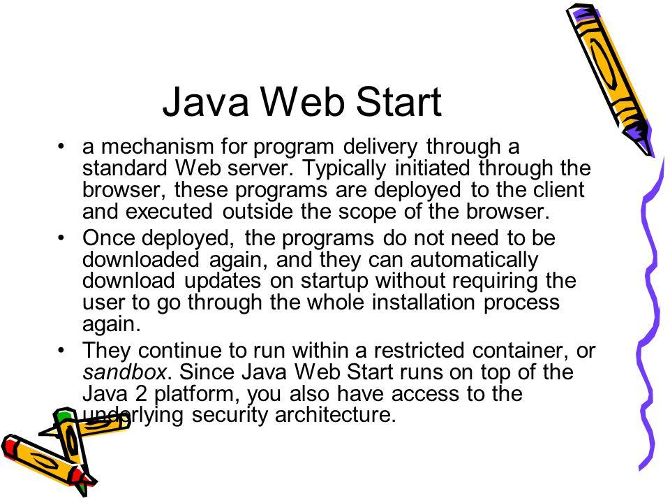 CSc 667/867 Java Web Start / JNLP RSS  Deploying Software with JNLP
