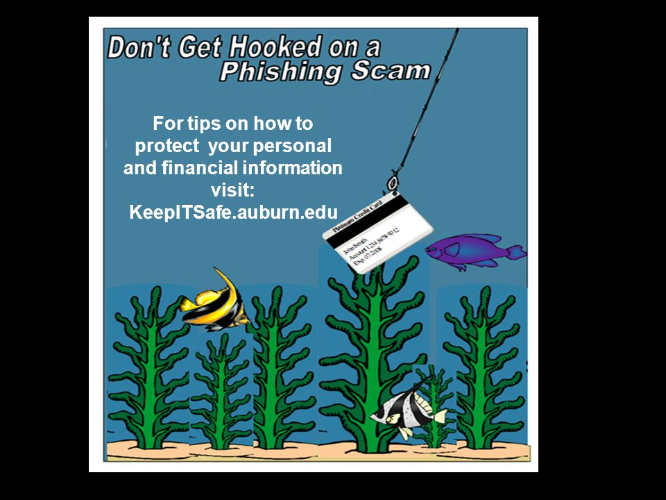 For tips on how to protect your personal and financial information visit: KeepITSafe.auburn.edu
