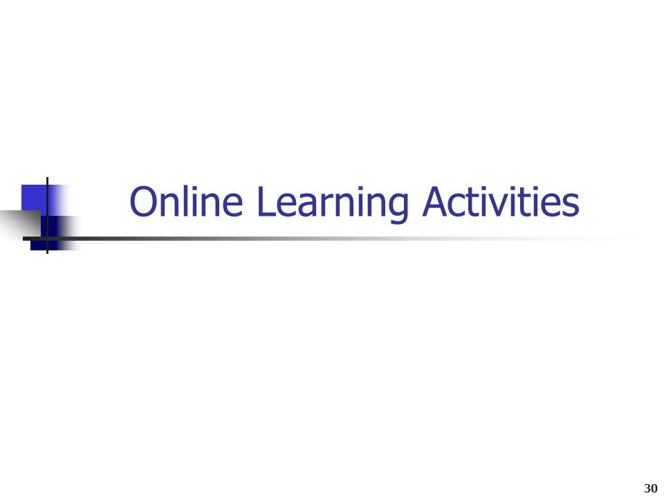 30 Online Learning Activities