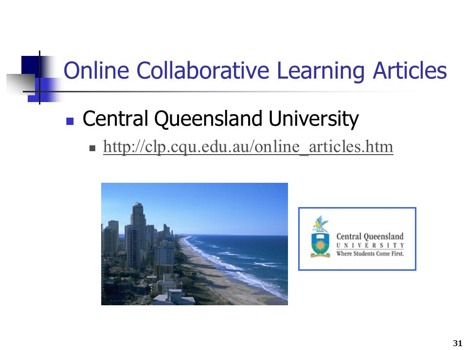 31 Online Collaborative Learning Articles Central Queensland University