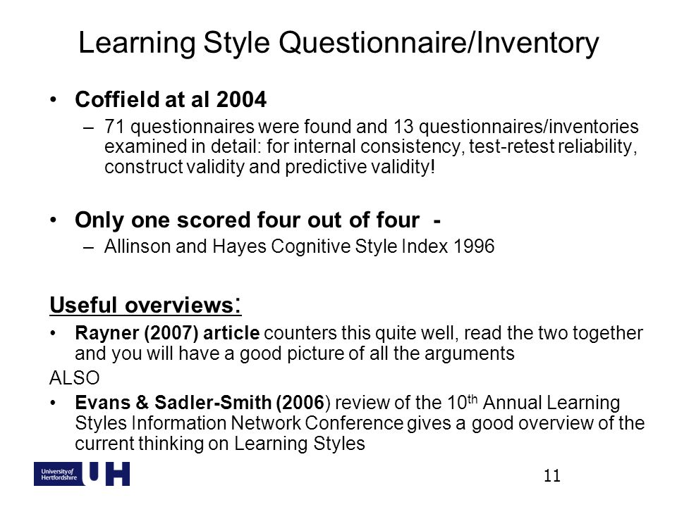 Are Learning Styles Real And Useful >> Learning Styles And Their Application To Studynet Lti Lunchtime