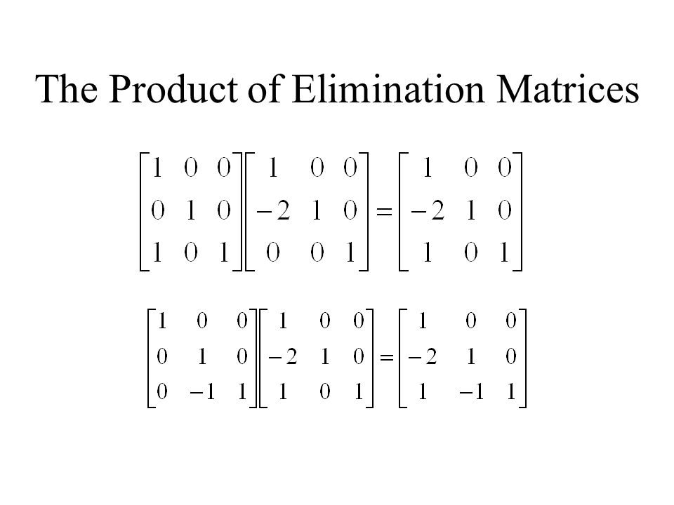 The Product of Elimination Matrices