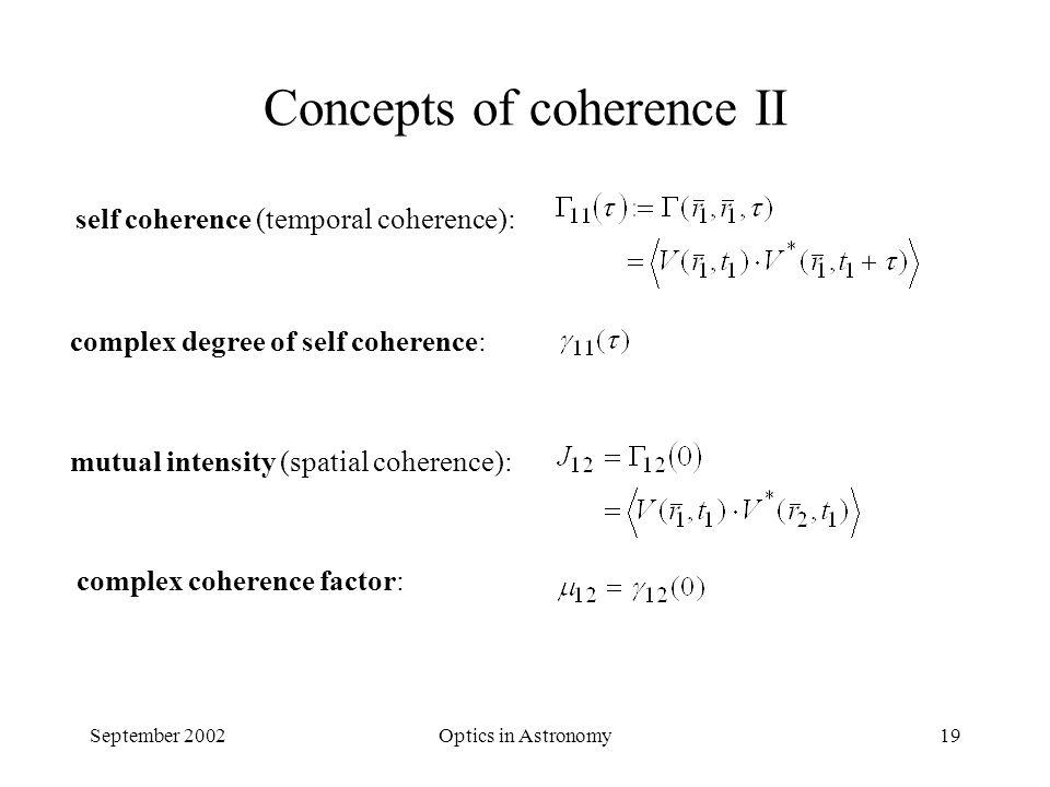 Optics in Astronomy - Interferometry - Oskar von der Lühe