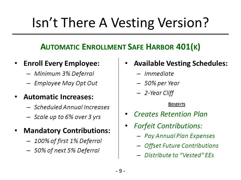 Understanding The Advantages of Safe Harbor 401(k) Plans