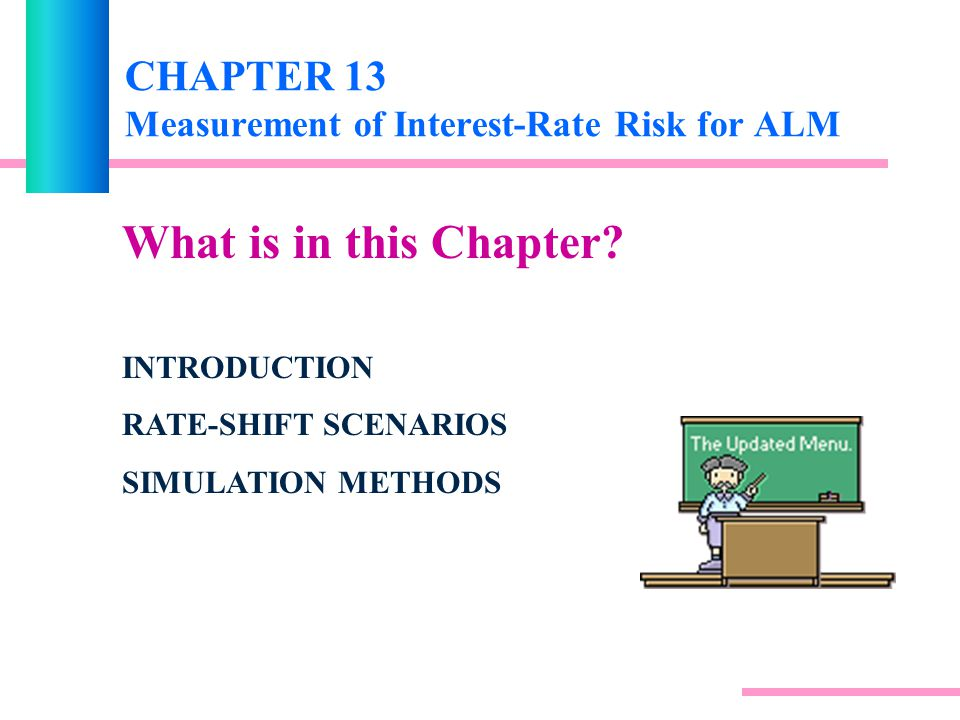 CHAPTER 13 Measurement of Interest-Rate Risk for ALM What is in this Chapter.