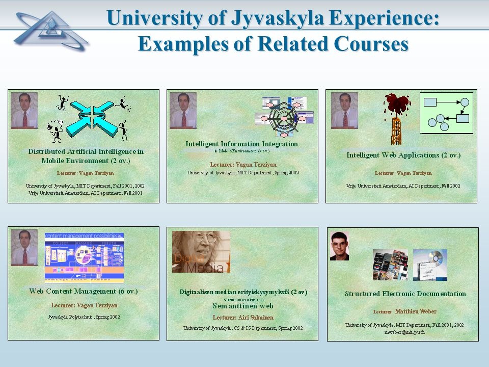 University of Jyvaskyla Experience: Examples of Related Courses