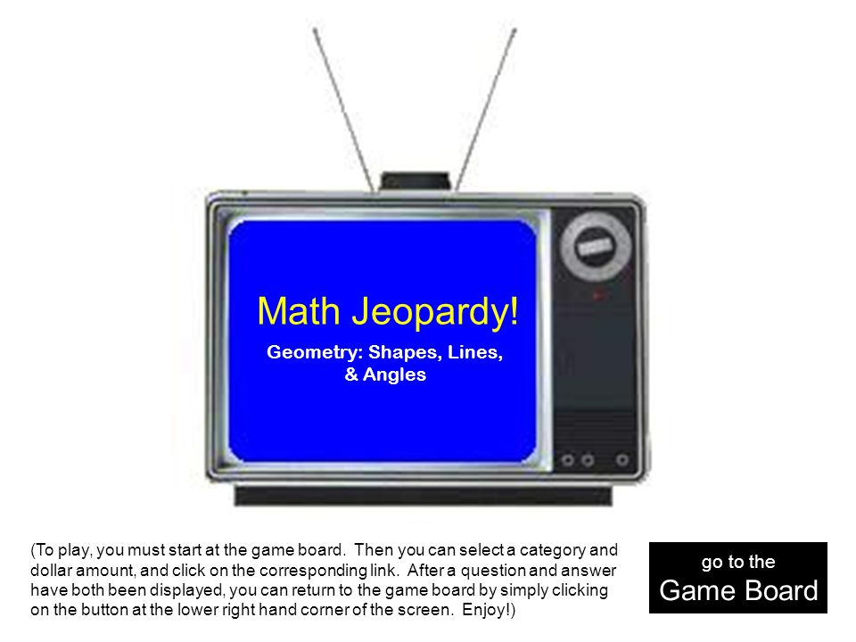 Math lines the game