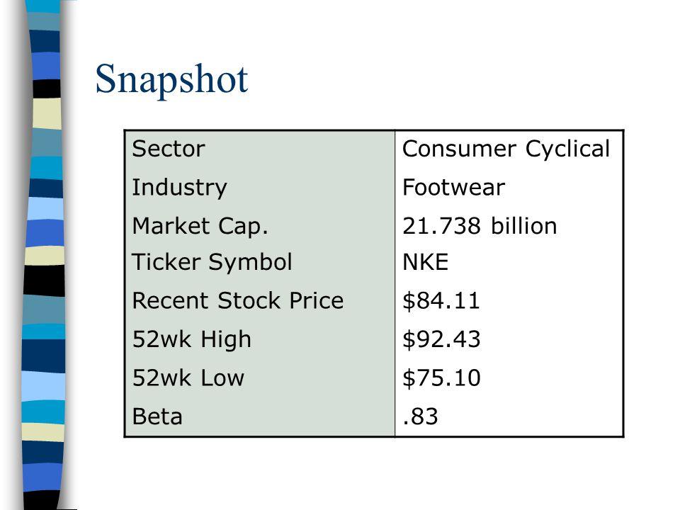 Nike Presentation Outline Snapshot Brief Overview Financial