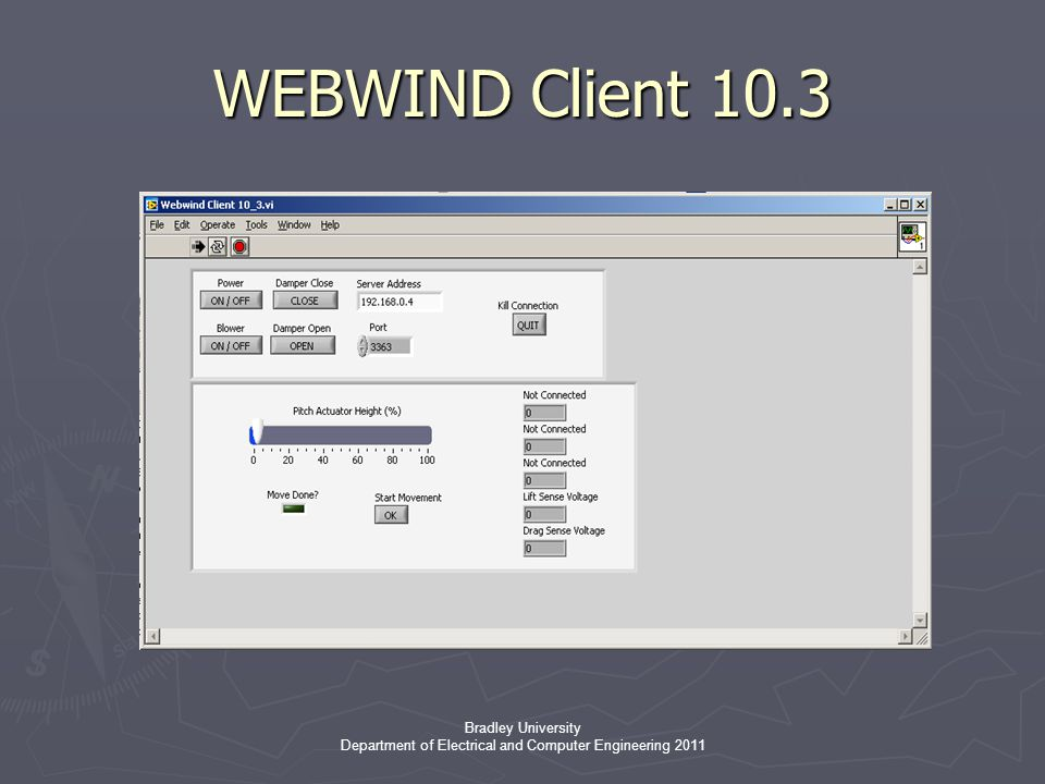 Bradley University Department of Electrical and Computer Engineering 2011 WEBWIND Client 10.3