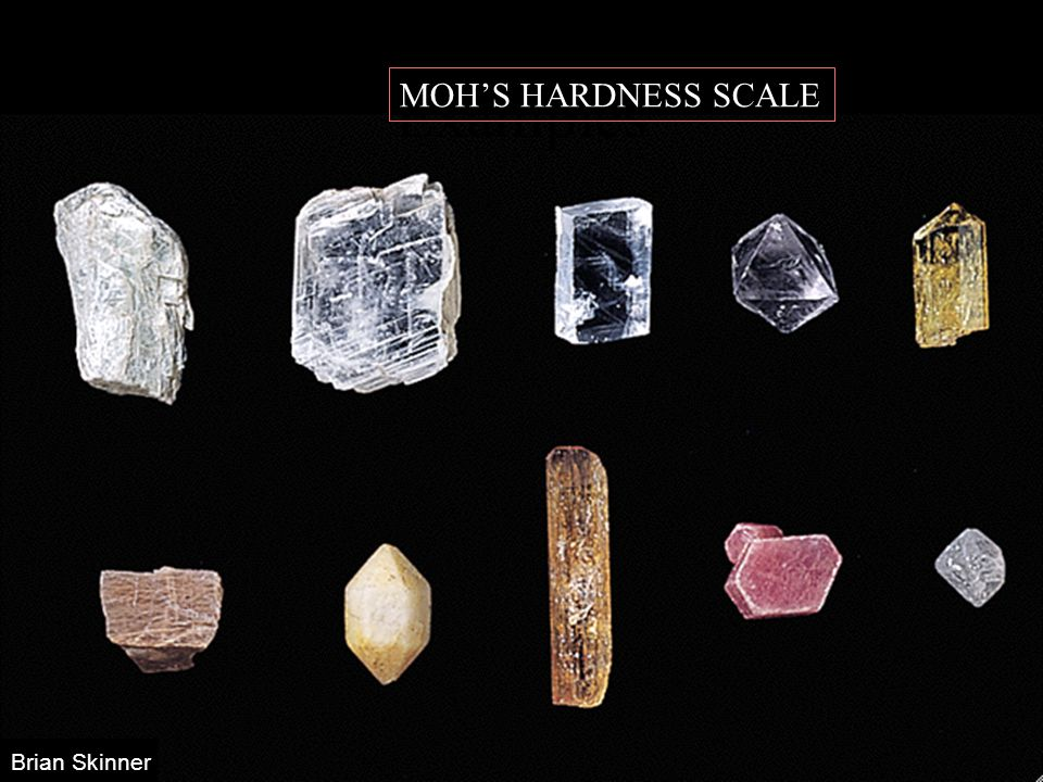 Brian Skinner Examples MOH'S HARDNESS SCALE