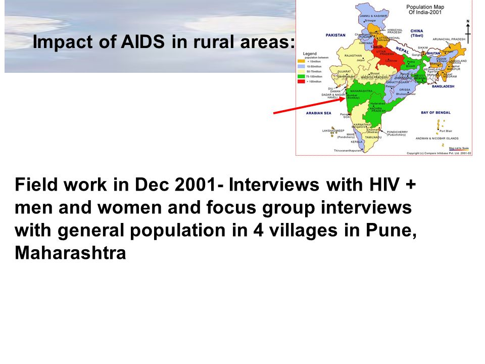 Impact of AIDS in rural areas: Field work in Dec Interviews with HIV + men and women and focus group interviews with general population in 4 villages in Pune, Maharashtra
