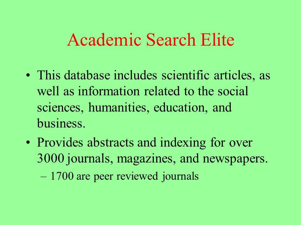 Search elite