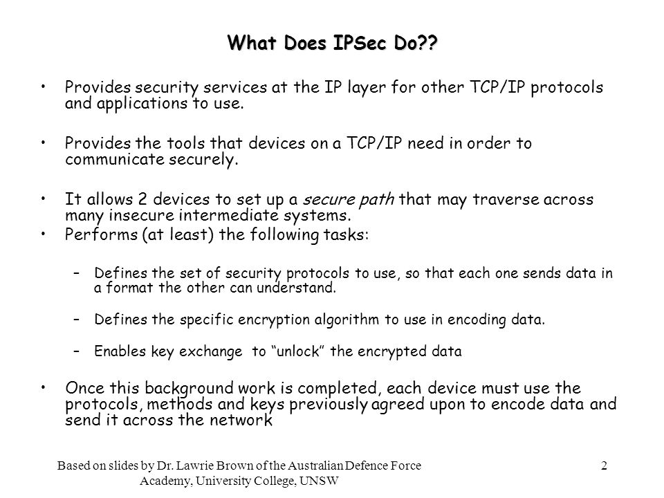 2 What Does IPSec Do .