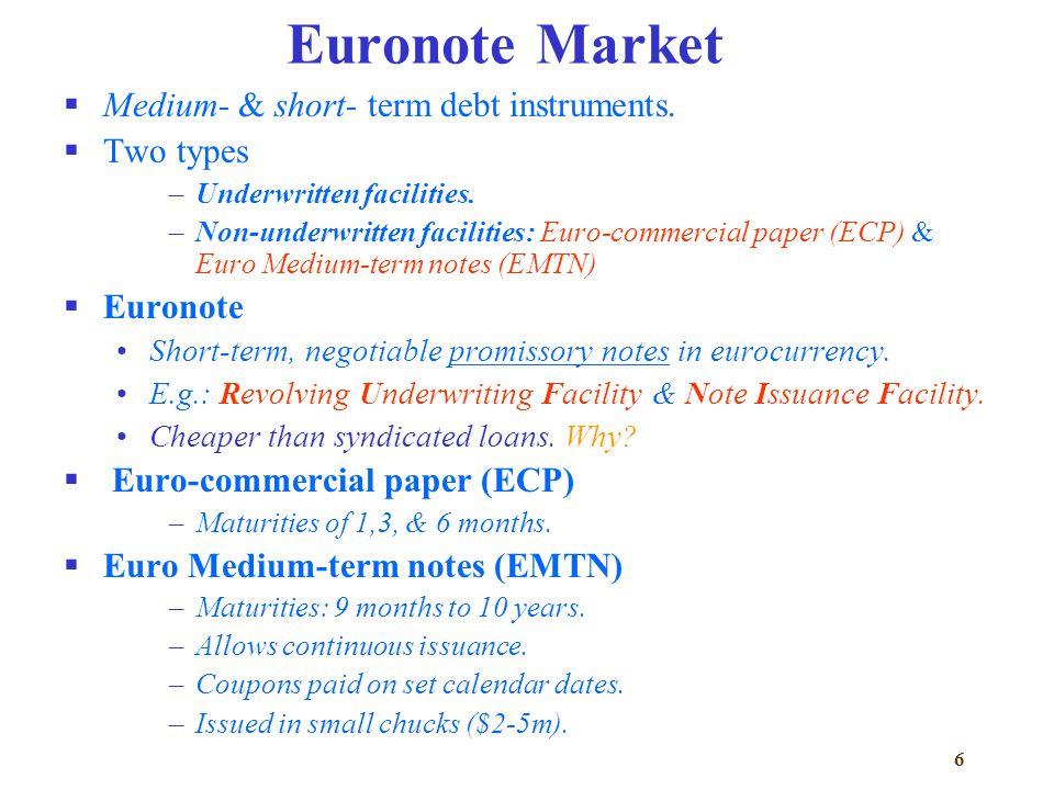 commercial paper medium term notes