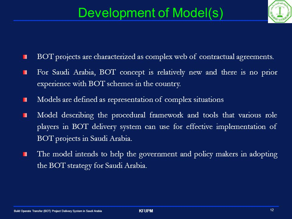 Build Operate Transfer Bot Project Delivery System In Saudi Arabia