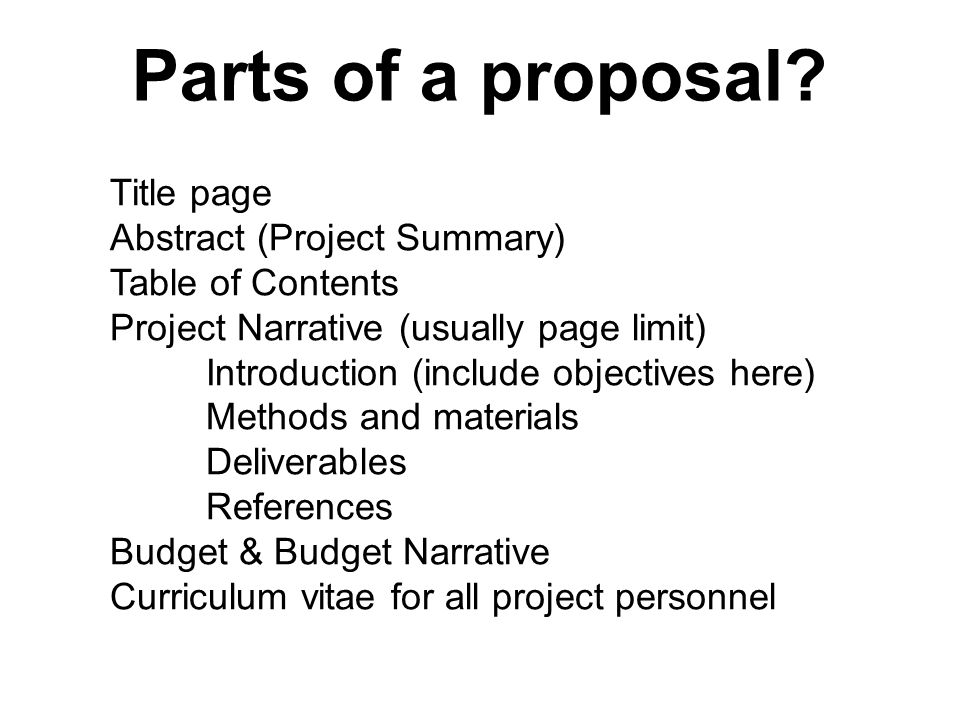 MARE 105 MOP Proposal Lecture  A proposal is a plan for a project