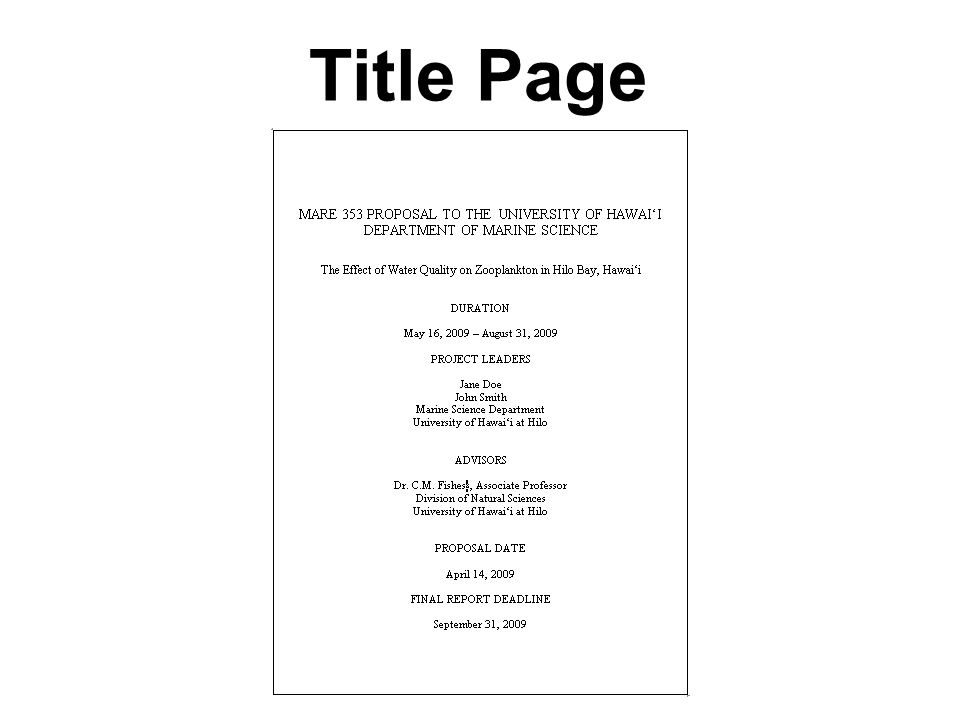4 title page