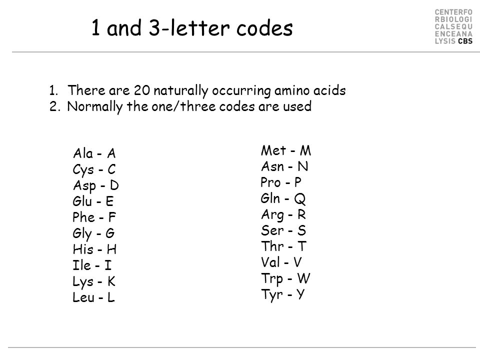 20 Amino Acid One Letter Code.Amino Acids And Proteins 1 What Is An Amino Acid Protein 2