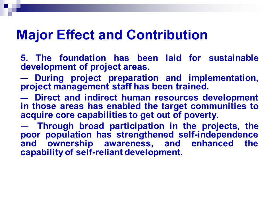 Major Effect and Contribution 5.