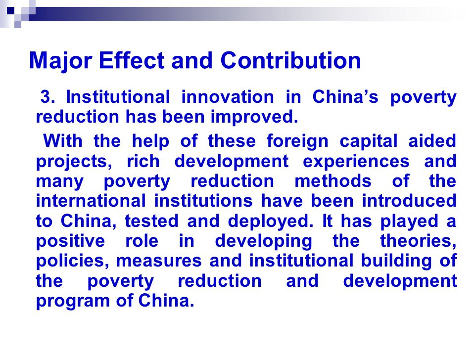 Major Effect and Contribution 3.
