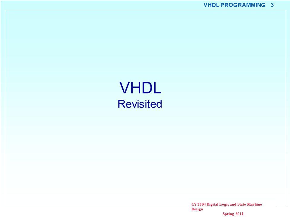 Cs2204 Digital Logic And State Machine Design Vhdl Programming Vijay Polavarapu Spring Ppt Download