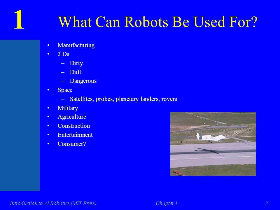 1 Introduction to AI Robotics (MIT Press)Chapter 11 Course