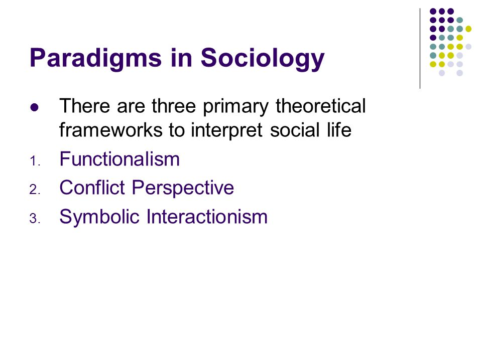 Paradigms In Sociology There Are Three Primary Theoretical