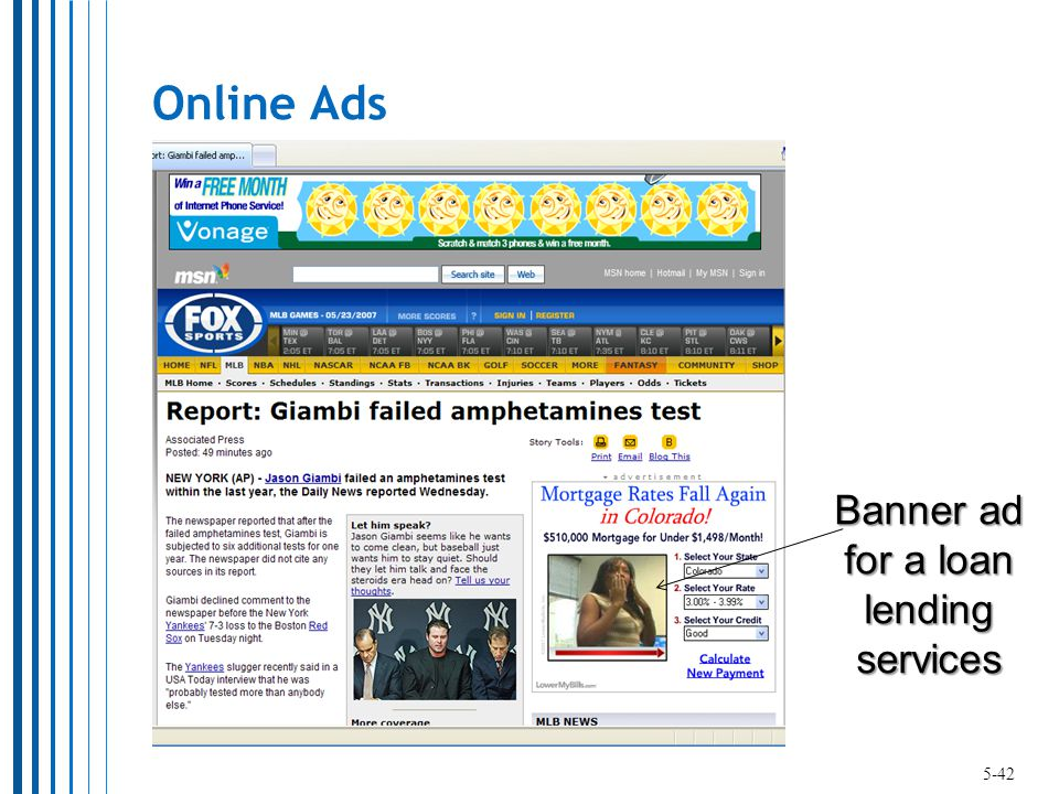 Online Ads Banner ad for a loan lending services 5-42