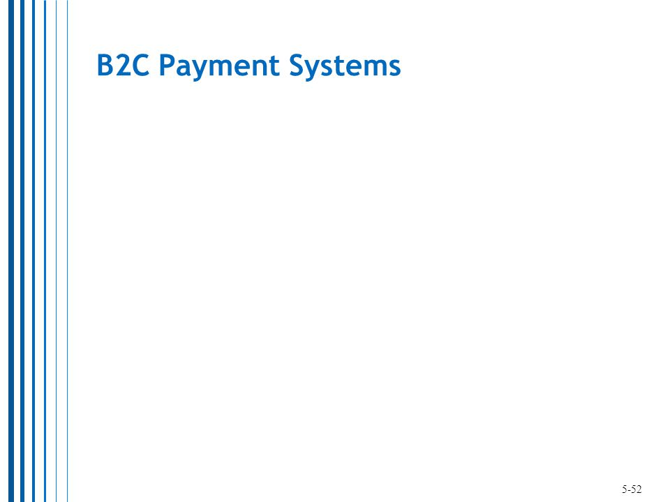 B2C Payment Systems 5-52