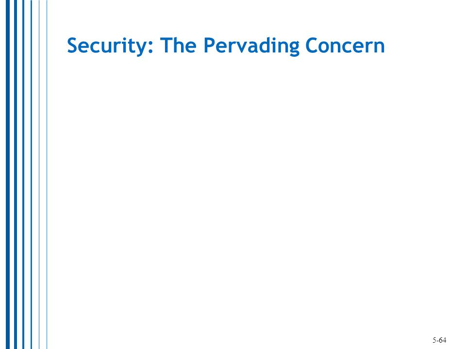 Security: The Pervading Concern 5-64