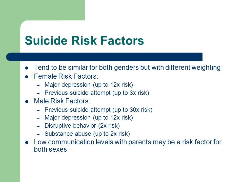 the major factors causing teenage depression and suicide Teen suicide is a leading cause of death for people ages 15 to 24 suicidal distress can be caused by psychological, environmental and social factors such as mental illness and substance abuse.