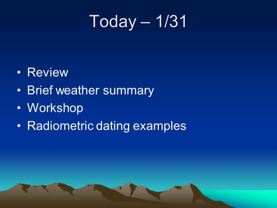Radiodating summary