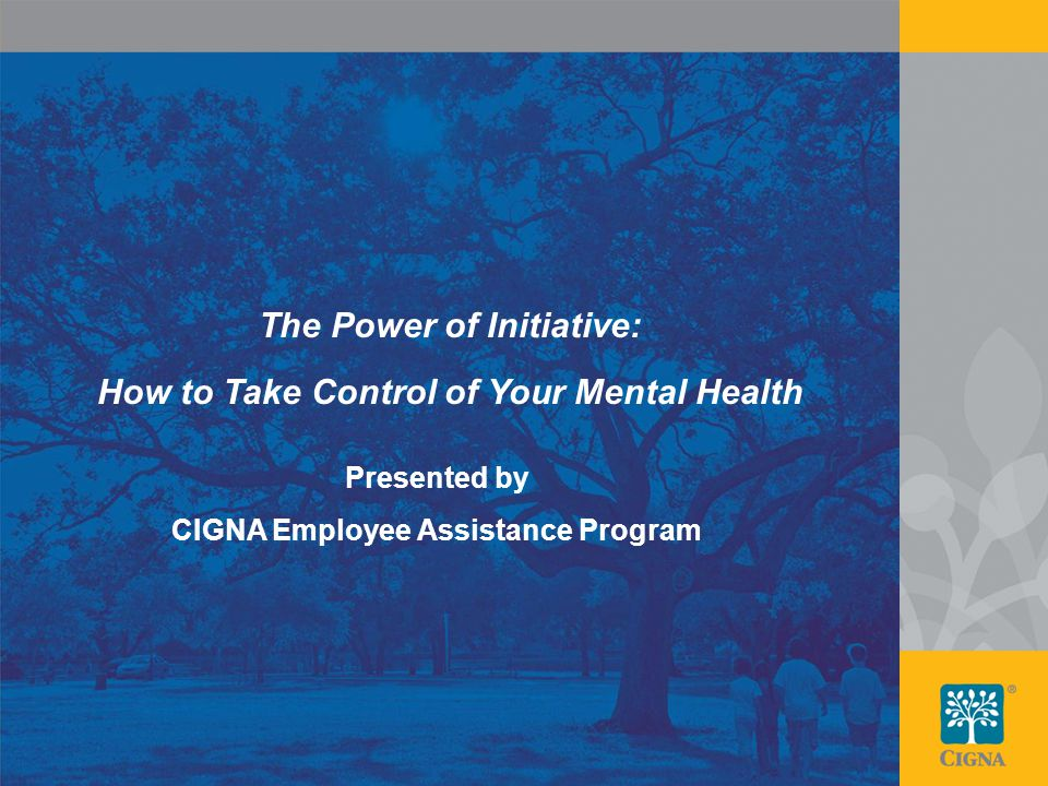 1 The Power Of Initiative How To Take Control Of Your Mental Health