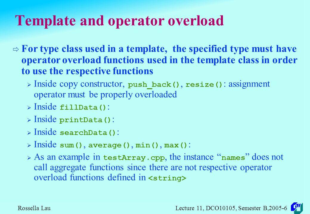 Rossella Lau Lecture 11, DCO10105, Semester B, DCO10105 Object ...