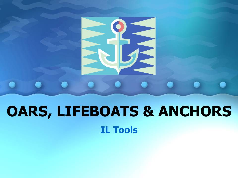 OARS, LIFEBOATS & ANCHORS IL Tools