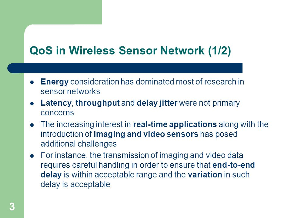 1 On Handling QoS Traffic in Wireless Sensor Networks 吳勇慶. - ppt ...