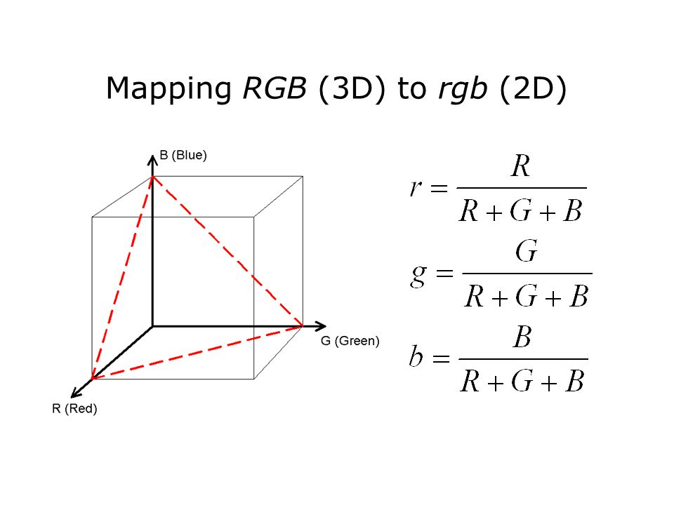 Mapping RGB (3D) to rgb (2D)