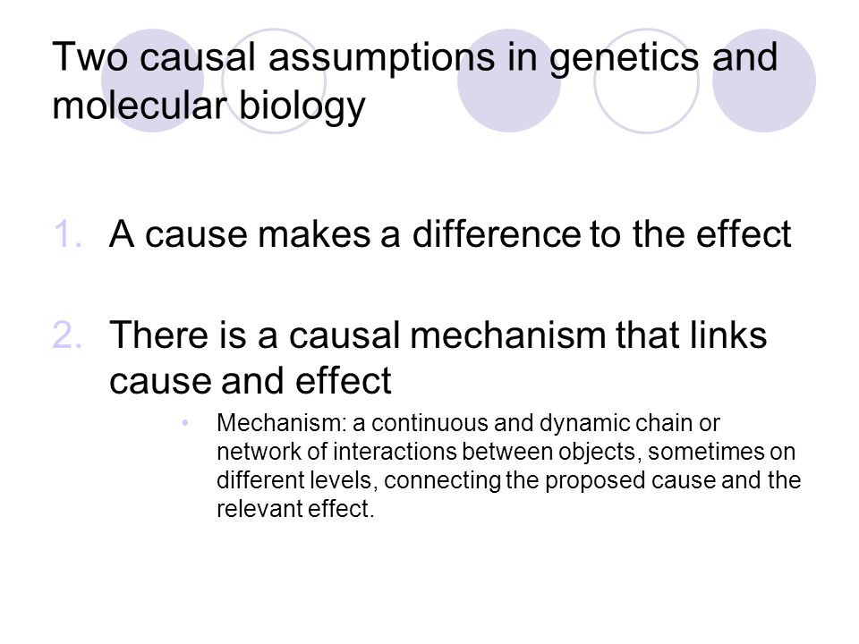 Mechanisms versus Difference-Making Examples from genetics
